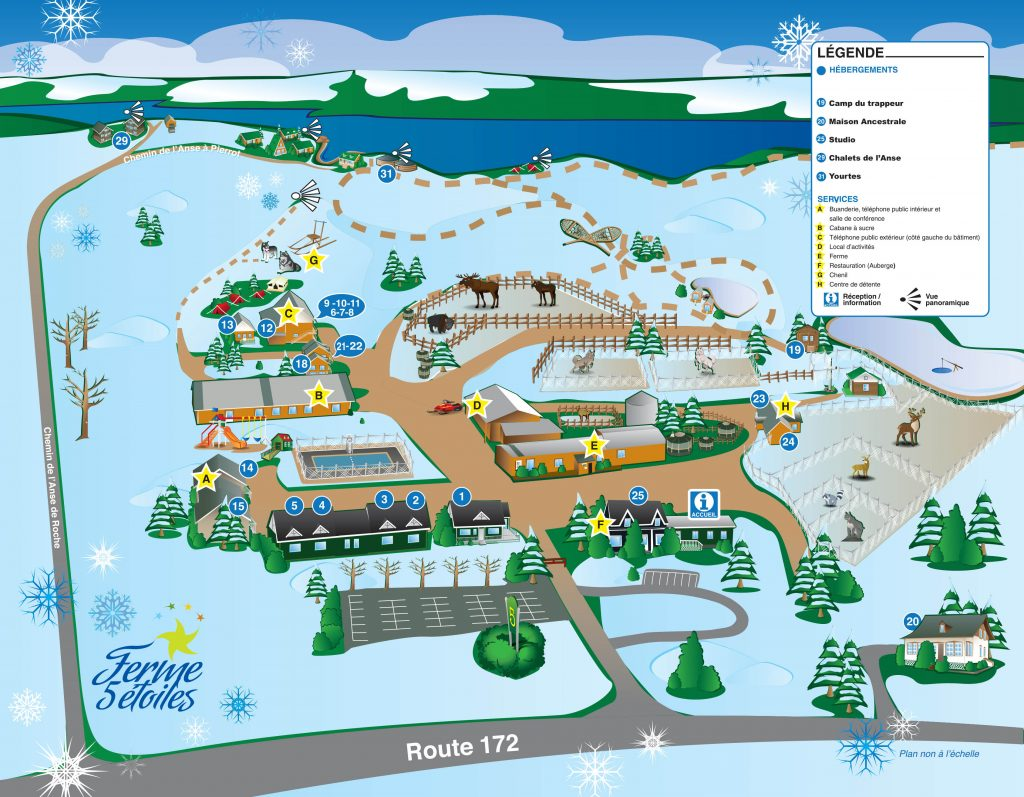 Carte hivernal du site principal