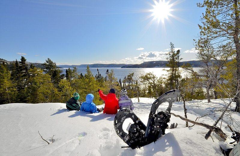 Sentier raquette au Fjord Saguenay