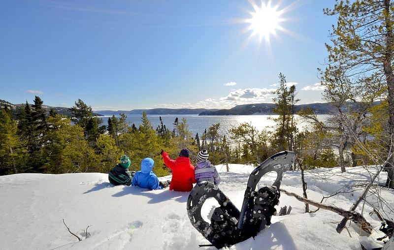 Randonnée raquette fjord Saguenay