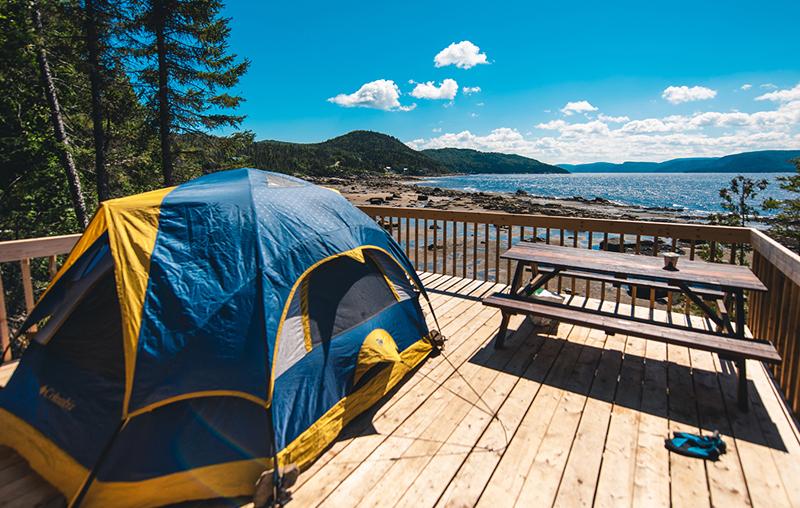 Camping en bordure du fjord