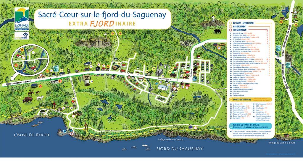 Plan du village de Sacré-Coeur